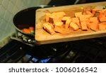 preparing dinner   homemade...   Shutterstock . vector #1006016542