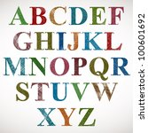 vintage style alphabet  classic ... | Shutterstock .eps vector #100601692