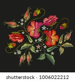 Embroidery Poppies Flowers T...