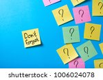 reminders for office notes with ... | Shutterstock . vector #1006024078