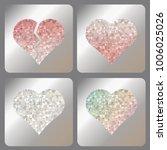 broken  red  silver or diamond... | Shutterstock .eps vector #1006025026