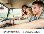group of friends travelling... | Shutterstock . vector #1006026328
