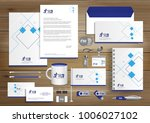 blue gray corporate identity... | Shutterstock .eps vector #1006027102