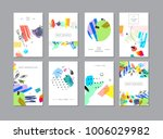 set of creative universal... | Shutterstock .eps vector #1006029982