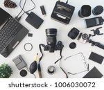 top view of photographer... | Shutterstock . vector #1006030072