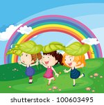 illustration of a kids on a... | Shutterstock . vector #100603495