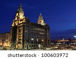 the royal liver building at...