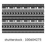 maori   polynesian style... | Shutterstock .eps vector #100604275