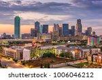 dallas  texas  usa skyline at... | Shutterstock . vector #1006046212
