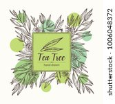 background with tea tree.... | Shutterstock .eps vector #1006048372