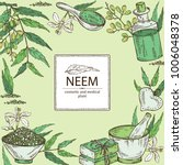 background with with neem ... | Shutterstock .eps vector #1006048378
