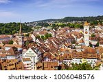panoramic view of the old town...   Shutterstock . vector #1006048576