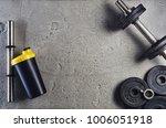 fitness or bodybuilding concept ...   Shutterstock . vector #1006051918