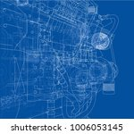 car engine. vector eps10 format ... | Shutterstock .eps vector #1006053145