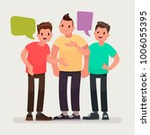 conversation of friends.... | Shutterstock .eps vector #1006055395