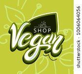 vegan shop logo | Shutterstock .eps vector #1006064056