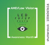 amd low vision awareness month... | Shutterstock .eps vector #1006065616