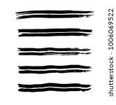 brush stroke set. texture. | Shutterstock .eps vector #1006069522