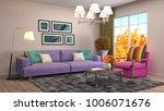 interior living room. 3d... | Shutterstock . vector #1006071676