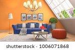 interior living room. 3d... | Shutterstock . vector #1006071868