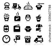 fast food icons set elegant... | Shutterstock .eps vector #100607788