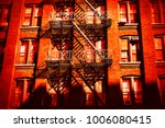 escape fire ladders at house...   Shutterstock . vector #1006080415