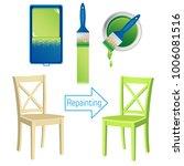 furniture repainting tools ...   Shutterstock .eps vector #1006081516