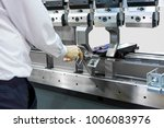 operator working cut and...   Shutterstock . vector #1006083976