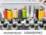 automatic sewing machine and... | Shutterstock . vector #1006083982