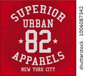 vintage varsity graphics and... | Shutterstock .eps vector #1006087342