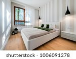modern bedroom in white... | Shutterstock . vector #1006091278
