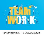 vector business illustration ... | Shutterstock .eps vector #1006093225