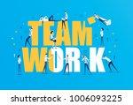 vector business illustration ... | Shutterstock .eps vector #1006093225