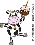 Funny Cow With Birthday Cake