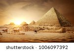 pyramids of egypt | Shutterstock . vector #1006097392