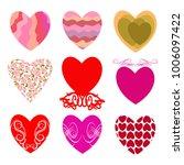 vector hearts. set for wedding...   Shutterstock .eps vector #1006097422