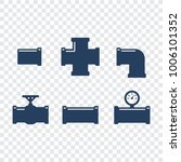 pipe fittings vector icons set. ... | Shutterstock .eps vector #1006101352