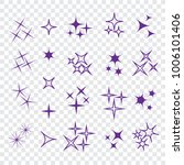 icon star. sparkles collection. ... | Shutterstock .eps vector #1006101406