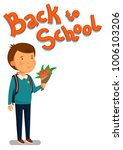 schoolboy and back to school... | Shutterstock . vector #1006103206