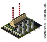 isometric thermal power plant... | Shutterstock . vector #1006107286