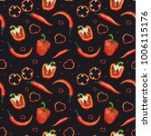 seamless pattern with red... | Shutterstock . vector #1006115176