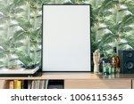 frame mockup in interior | Shutterstock . vector #1006115365