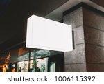 signboard outdoor mockup   Shutterstock . vector #1006115392