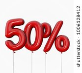 50  discount made of red...   Shutterstock . vector #1006128412