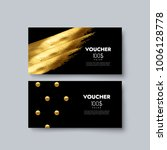 gift voucher templates. set of... | Shutterstock .eps vector #1006128778