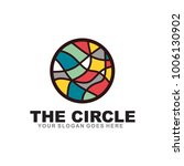 colorful circle logo design... | Shutterstock .eps vector #1006130902