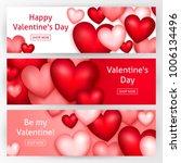 valentines day horizontal... | Shutterstock .eps vector #1006134496