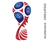 trophy for games  red and blue  ... | Shutterstock .eps vector #1006139332