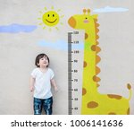 closeup asian kid stand for... | Shutterstock . vector #1006141636
