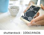 smart home automation concept...   Shutterstock . vector #1006144636